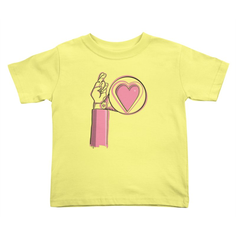 Heart on you sleeve Kids Toddler T-Shirt by Stephen Harris Designs