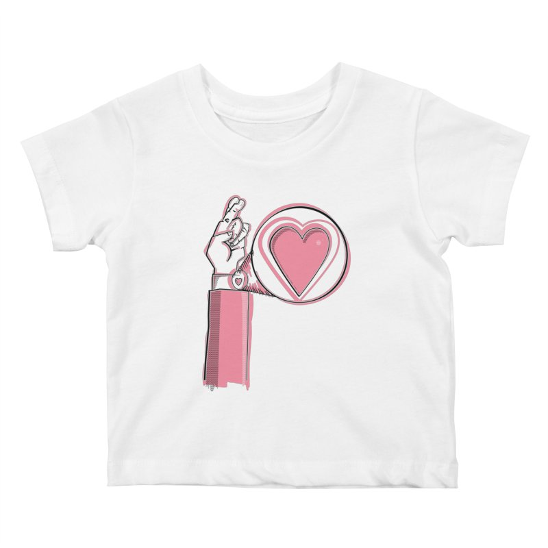 Heart on you sleeve Kids Baby T-Shirt by Stephen Harris Designs