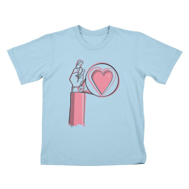 Heart on you sleeve Kids T-Shirt by Stephen Harris Designs