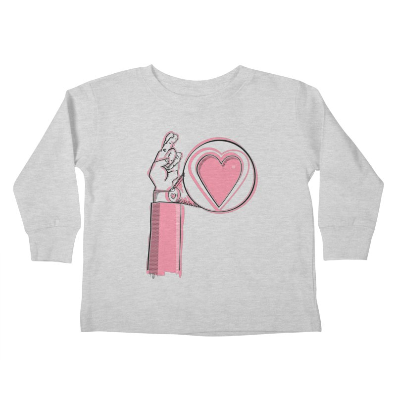 Heart on you sleeve Kids Toddler Longsleeve T-Shirt by Stephen Harris Designs