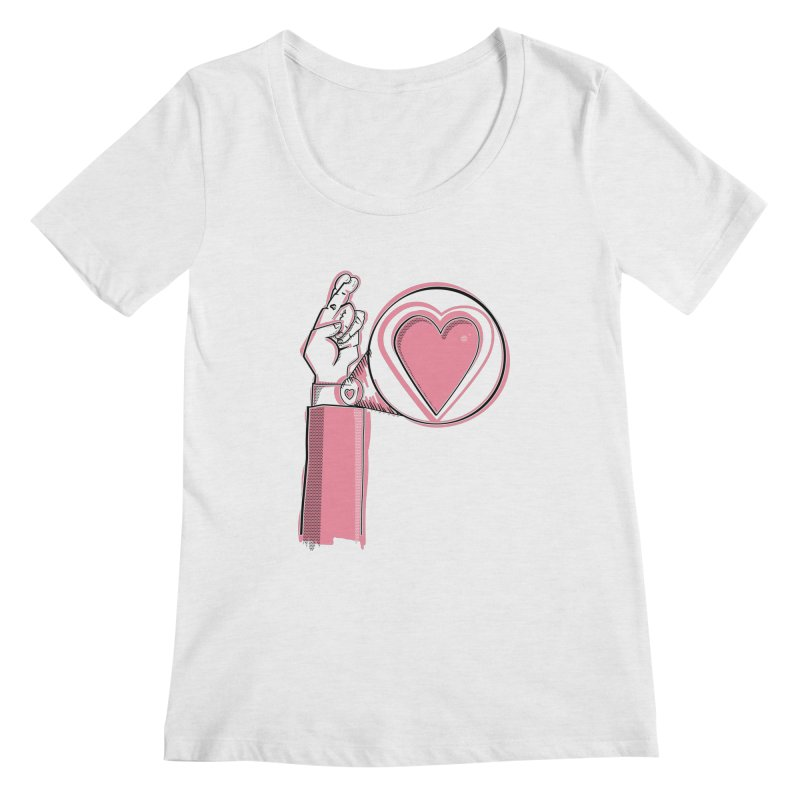 Heart on you sleeve Women's Scoop Neck by Stephen Harris Designs