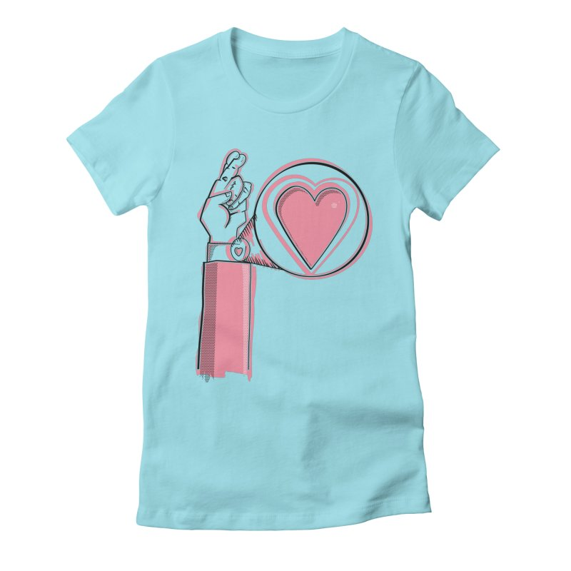 Heart on you sleeve Women's Fitted T-Shirt by Stephen Harris Designs