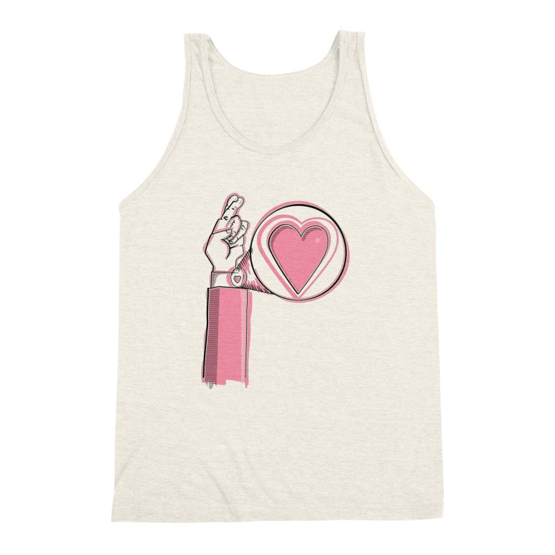 Heart on you sleeve Men's Triblend Tank by Stephen Harris Designs