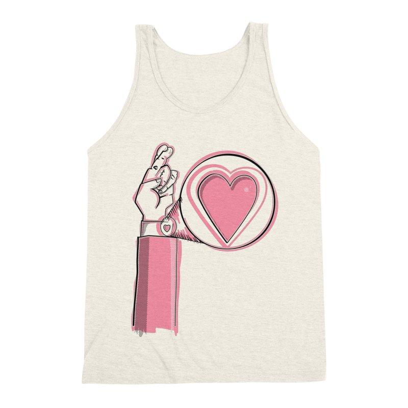 Heart on you sleeve Men's Triblend Tank by Stephen Harris Designs