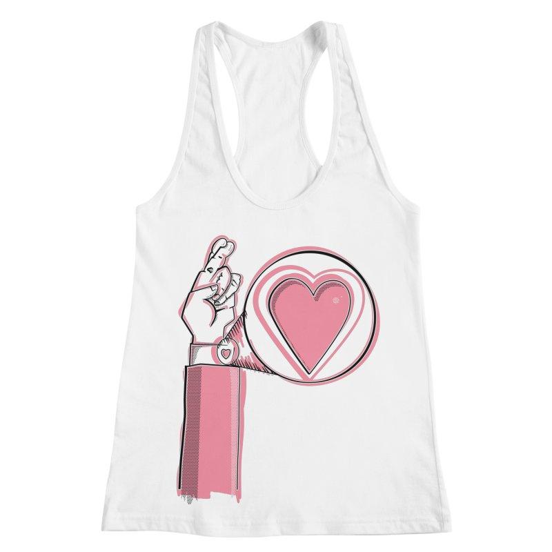 Heart on you sleeve Women's Racerback Tank by Stephen Harris Designs