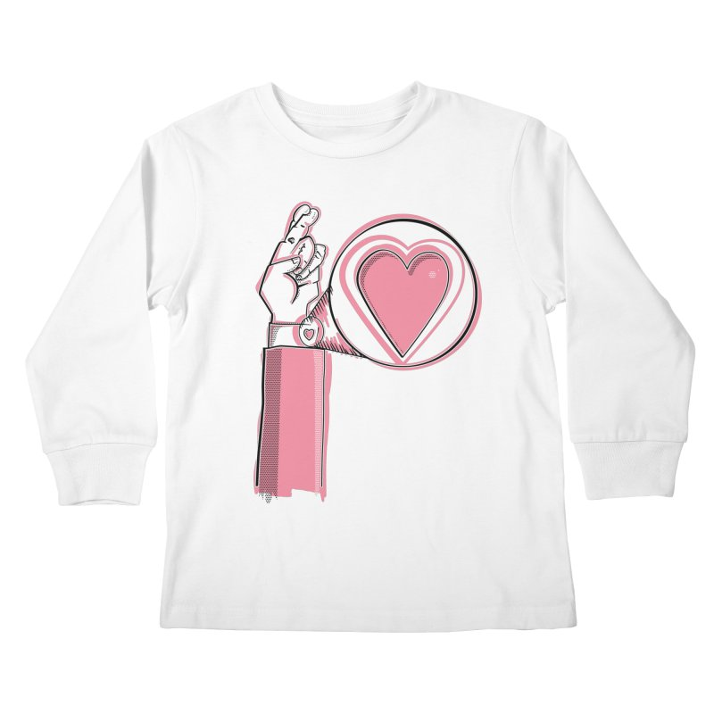 Heart on you sleeve Kids Longsleeve T-Shirt by Stephen Harris Designs