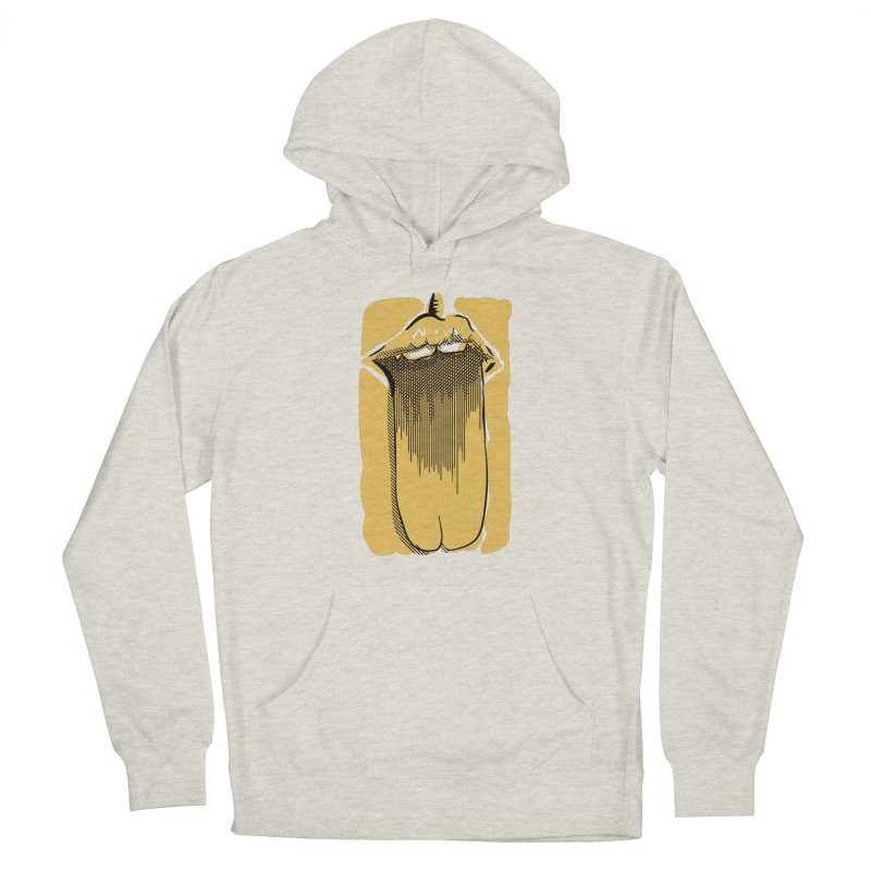 Tounge Men's French Terry Pullover Hoody by Stephen Harris Designs