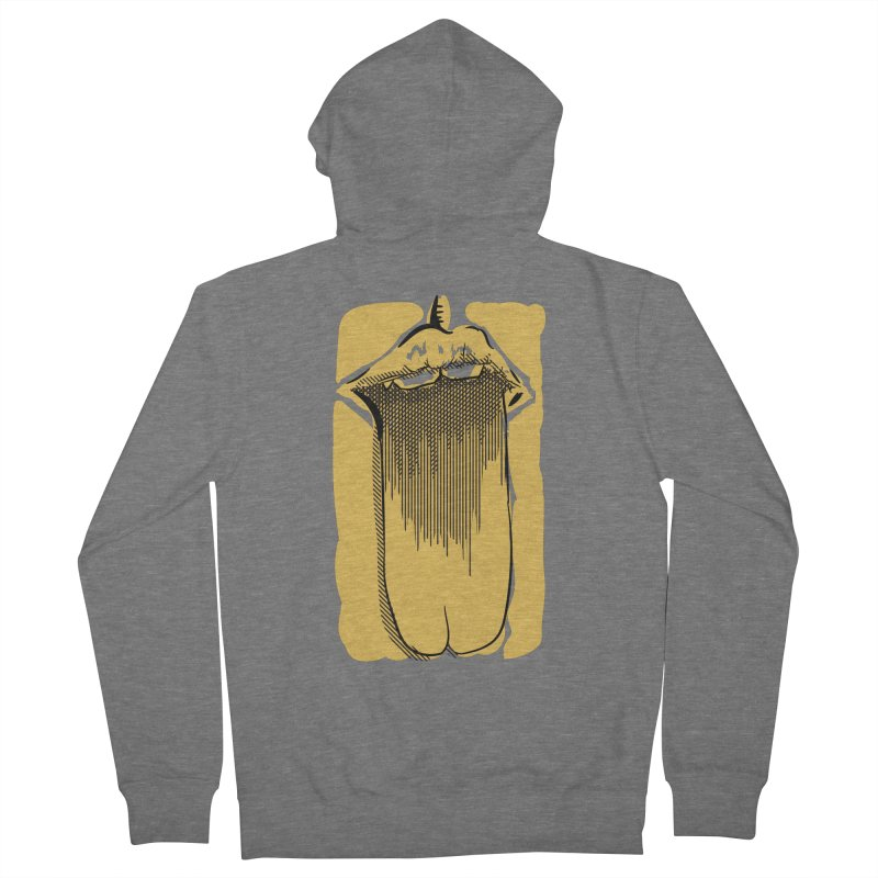 Tounge Men's French Terry Zip-Up Hoody by Stephen Harris Designs