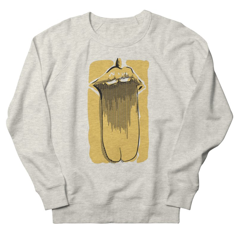 Tounge Men's French Terry Sweatshirt by Stephen Harris Designs