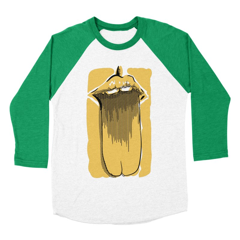 Tounge Women's Baseball Triblend Longsleeve T-Shirt by Stephen Harris Designs