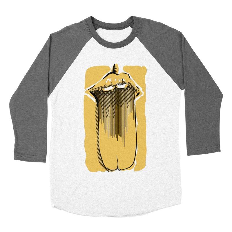 Tounge Men's Baseball Triblend Longsleeve T-Shirt by Stephen Harris Designs