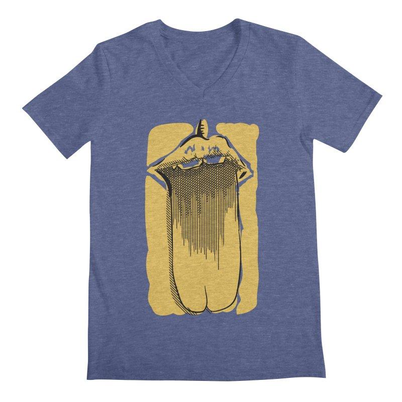 Tounge Men's Regular V-Neck by Stephen Harris Designs