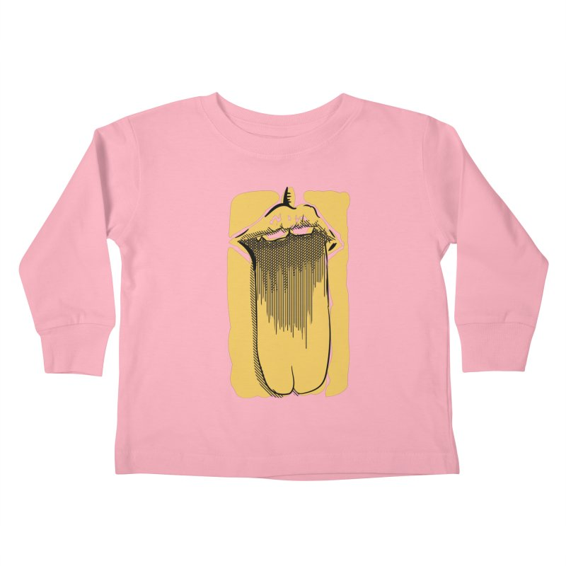Tounge Kids Toddler Longsleeve T-Shirt by Stephen Harris Designs