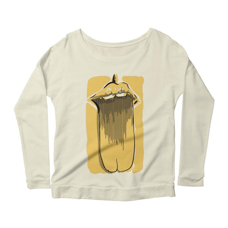 Tounge Women's Scoop Neck Longsleeve T-Shirt by Stephen Harris Designs