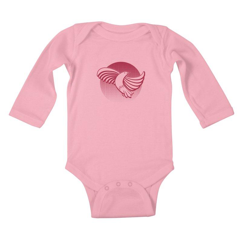 Up in the air Kids Baby Longsleeve Bodysuit by Stephen Harris Designs