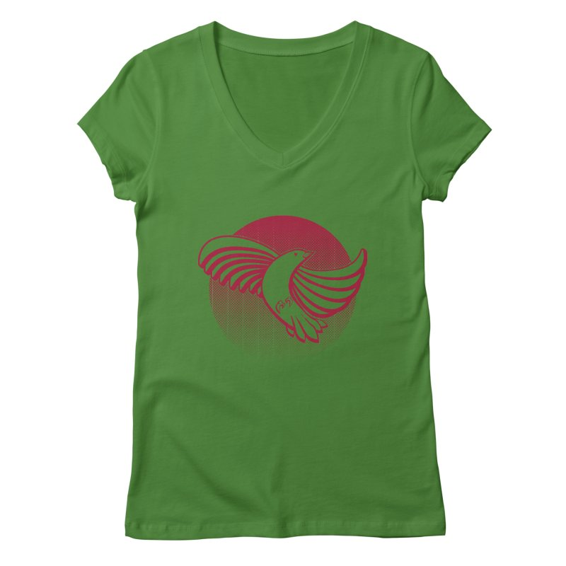 Up in the air Women's Regular V-Neck by Stephen Harris Designs