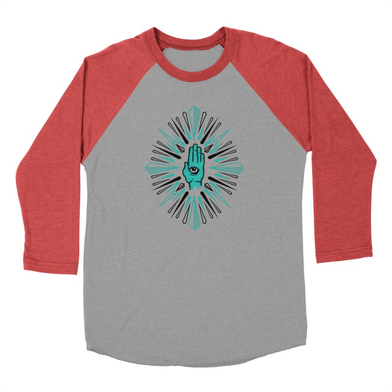 Hand-eye Coordination Men's Baseball Triblend Longsleeve T-Shirt by Stephen Harris Designs