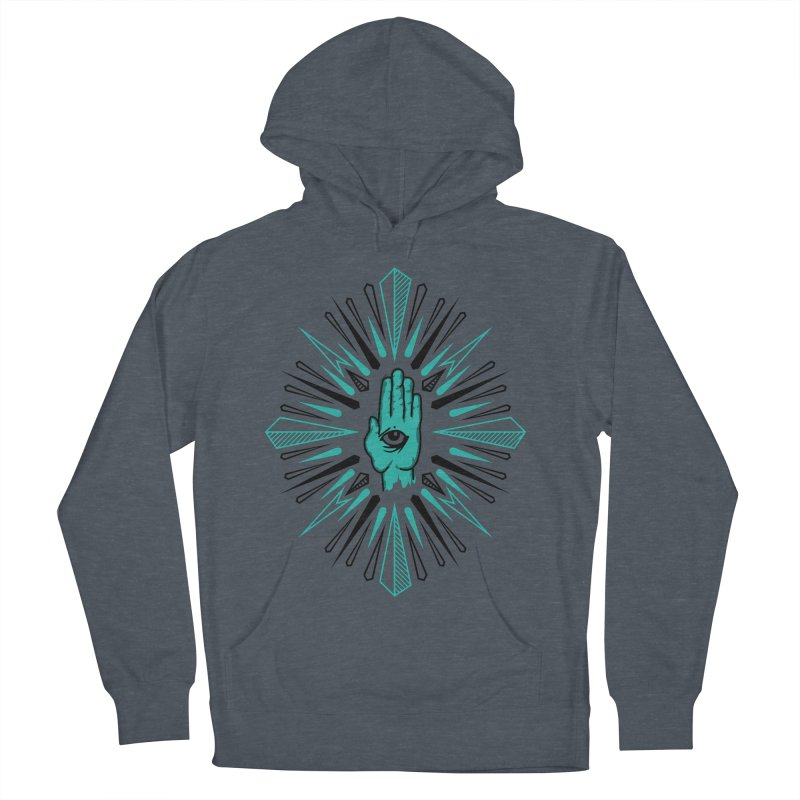 Hand-eye Coordination Women's French Terry Pullover Hoody by Stephen Harris Designs