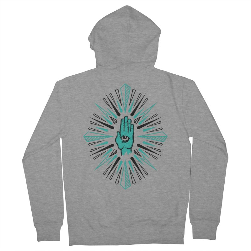 Hand-eye Coordination Women's French Terry Zip-Up Hoody by Stephen Harris Designs