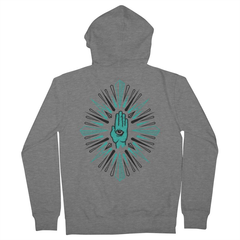 Hand-eye Coordination Men's French Terry Zip-Up Hoody by Stephen Harris Designs
