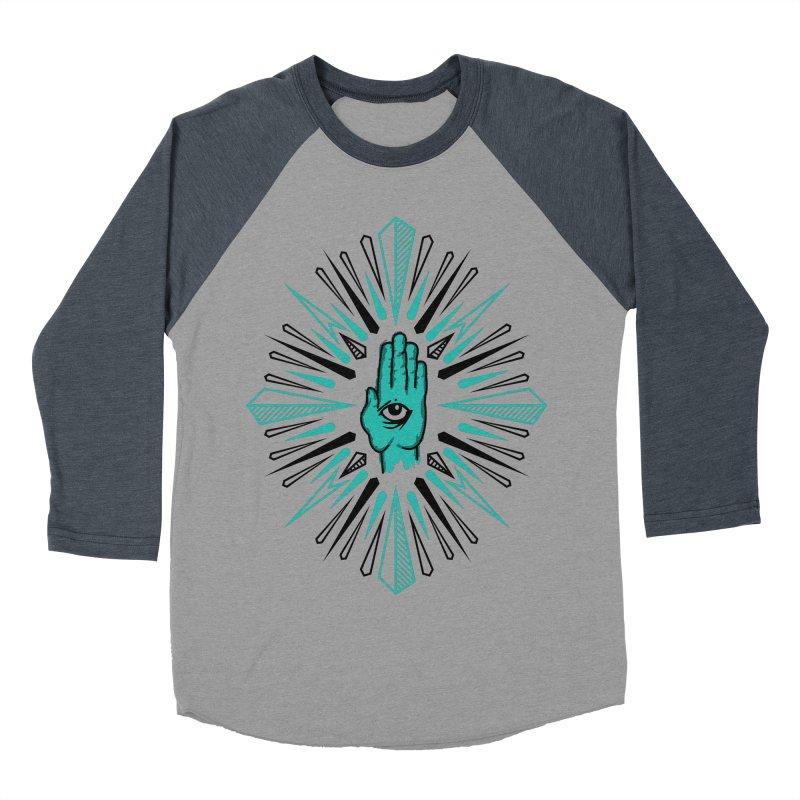 Hand-eye Coordination Men's Baseball Triblend Longsleeve T-Shirt by Stephen Harris Designs