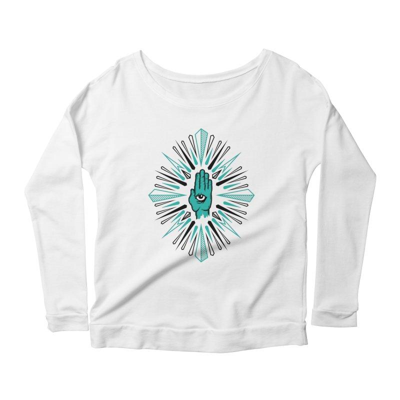 Hand-eye Coordination Women's Scoop Neck Longsleeve T-Shirt by Stephen Harris Designs