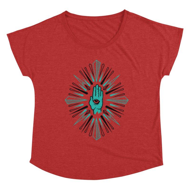 Hand-eye Coordination Women's Dolman Scoop Neck by Stephen Harris Designs