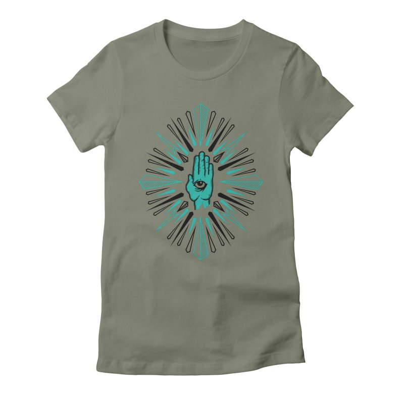 Hand-eye Coordination Women's Fitted T-Shirt by Stephen Harris Designs