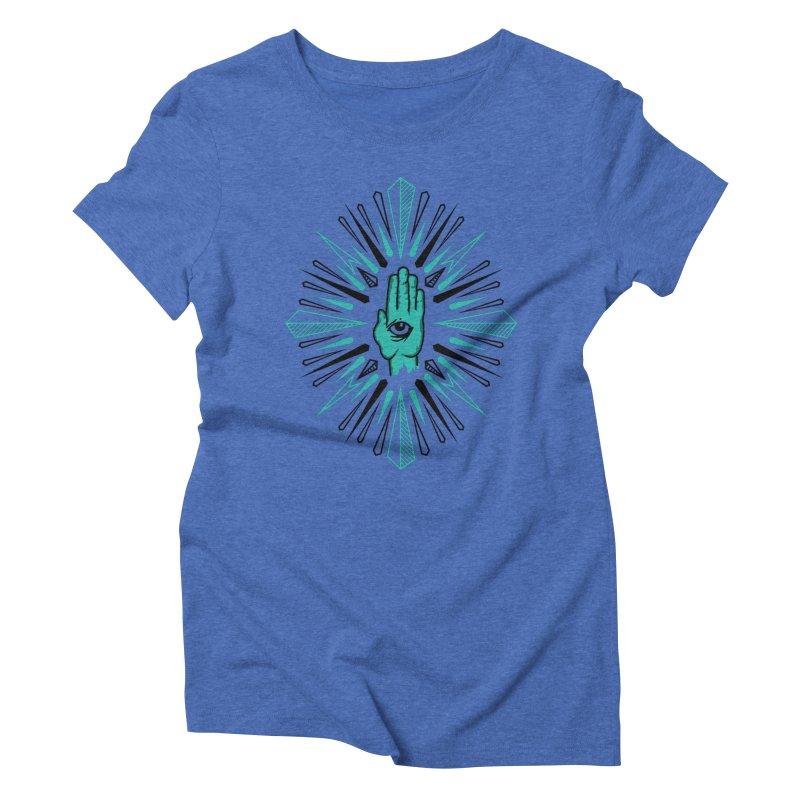 Hand-eye Coordination Women's Triblend T-Shirt by Stephen Harris Designs