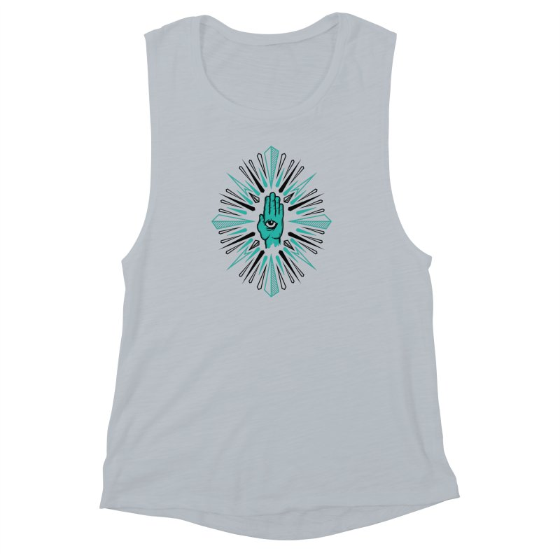 Hand-eye Coordination Women's Muscle Tank by Stephen Harris Designs