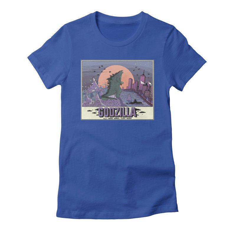 Godzilla Women's Fitted T-Shirt by Steven Compton's Artist Shop