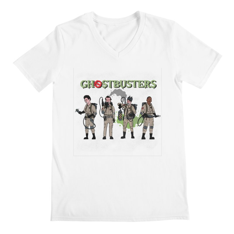 Ghostbusters Men's Regular V-Neck by Steven Compton's Artist Shop
