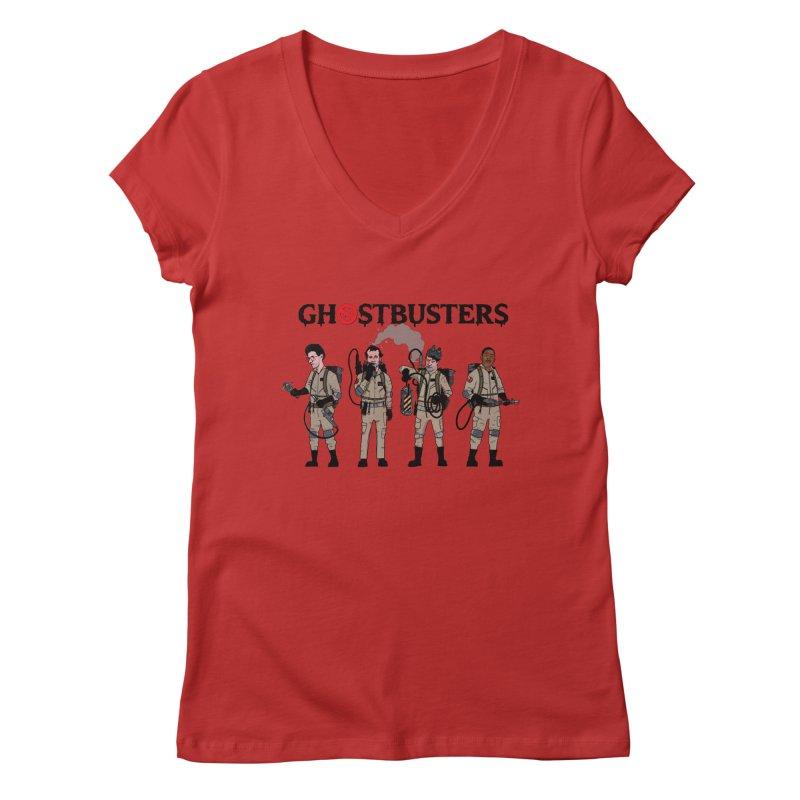 Ghostbusters Women's Regular V-Neck by Steven Compton's Artist Shop