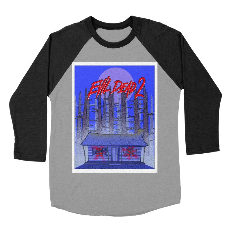 Evil Dead 2  Women's Baseball Triblend Longsleeve T-Shirt by Steven Compton's Artist Shop