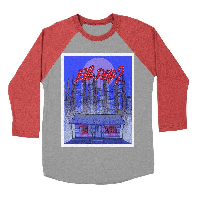 Evil Dead 2  Men's Baseball Triblend Longsleeve T-Shirt by Steven Compton's Artist Shop