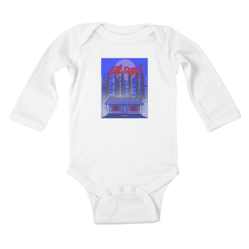 Evil Dead 2  Kids Baby Longsleeve Bodysuit by Steven Compton's Artist Shop