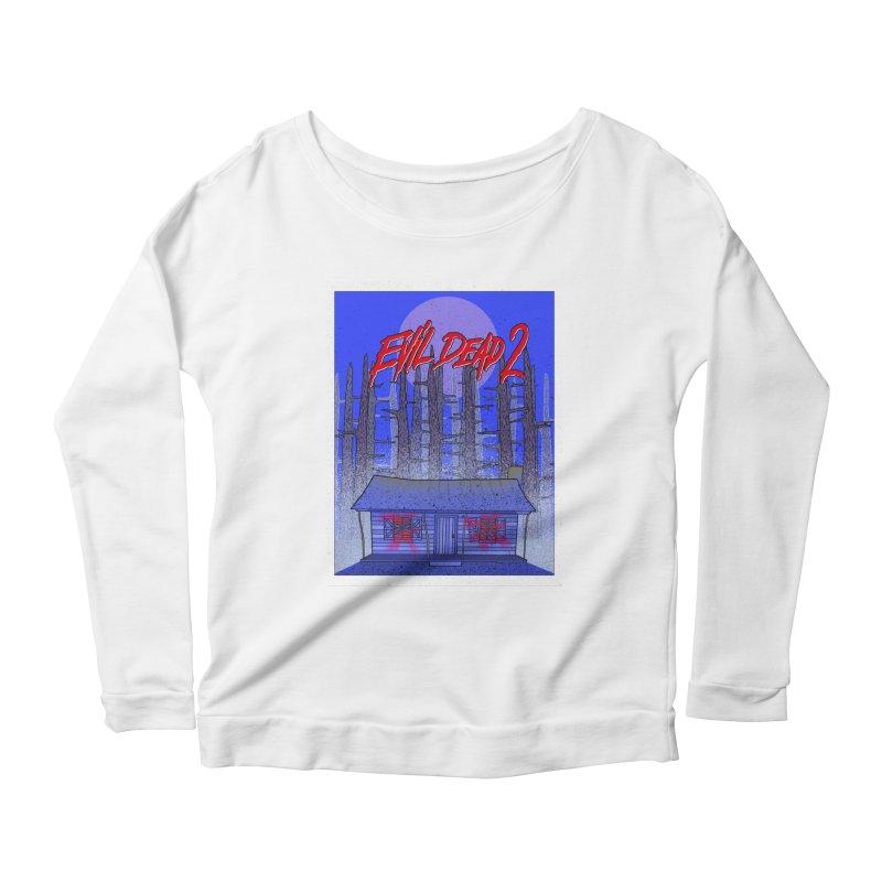 Evil Dead 2  Women's Scoop Neck Longsleeve T-Shirt by Steven Compton's Artist Shop