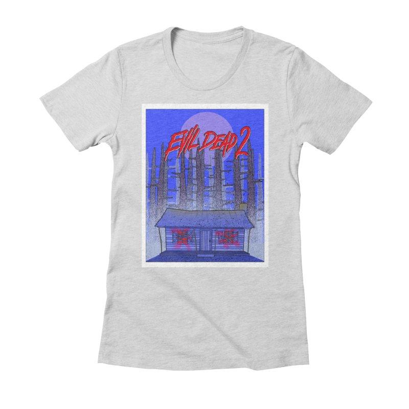 Evil Dead 2  Women's Fitted T-Shirt by Steven Compton's Artist Shop