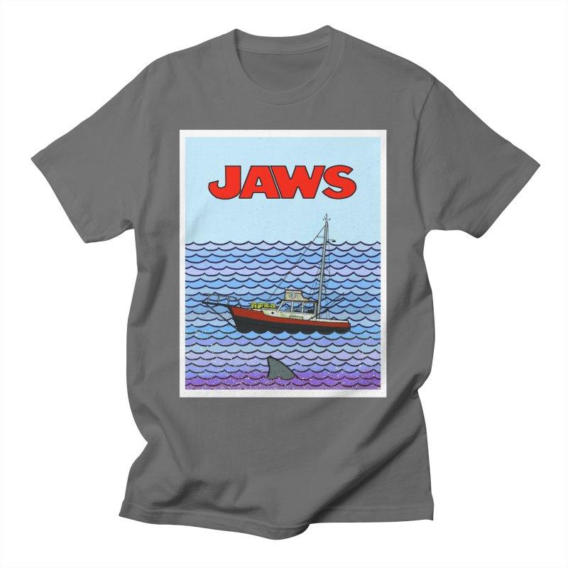 Jaws Men's T-Shirt by Steven Compton's Artist Shop
