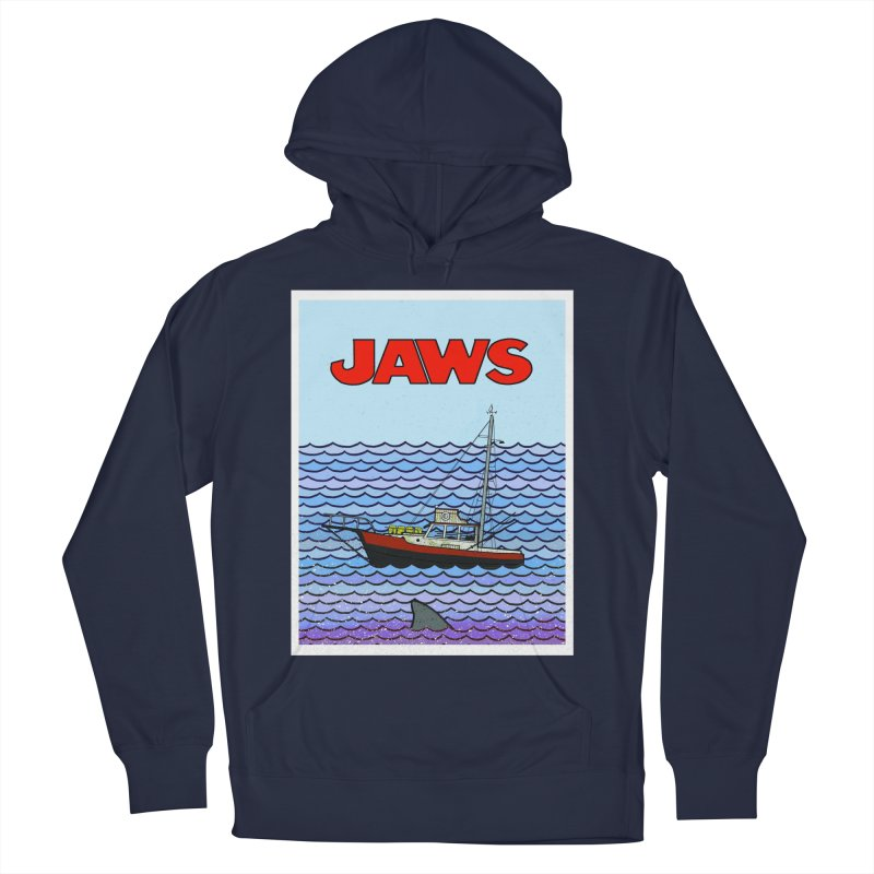 Jaws Women's French Terry Pullover Hoody by Steven Compton's Artist Shop