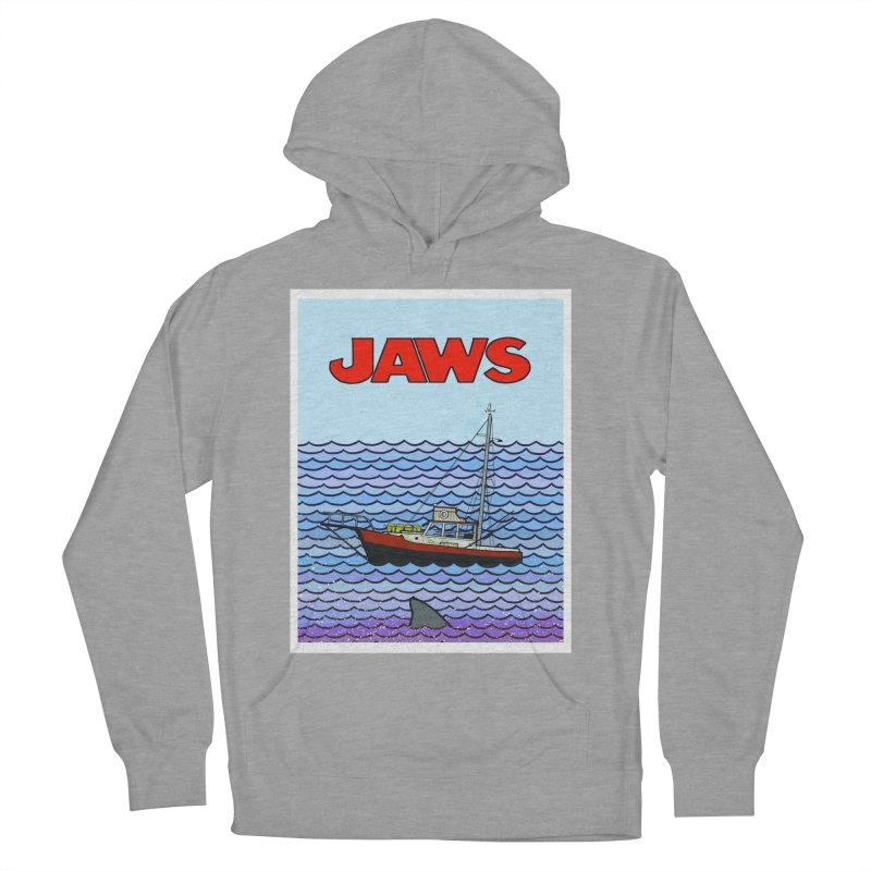 Jaws Men's French Terry Pullover Hoody by Steven Compton's Artist Shop