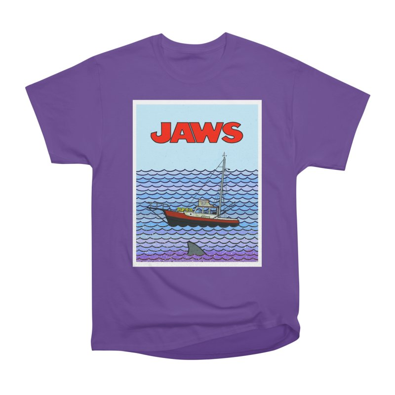 Jaws Men's Heavyweight T-Shirt by Steven Compton's Artist Shop