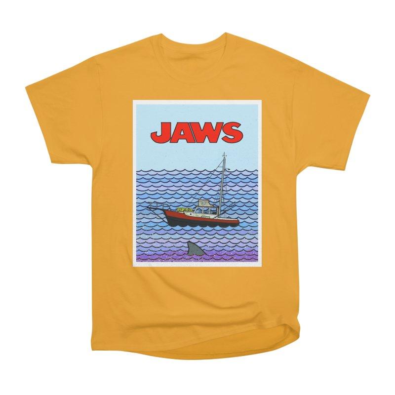 Jaws Men's Heavyweight T-Shirt by Steven Compton's Artist Shop