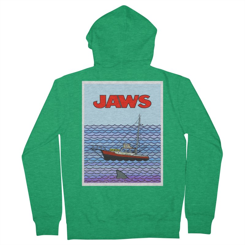 Jaws Women's Zip-Up Hoody by Steven Compton's Artist Shop