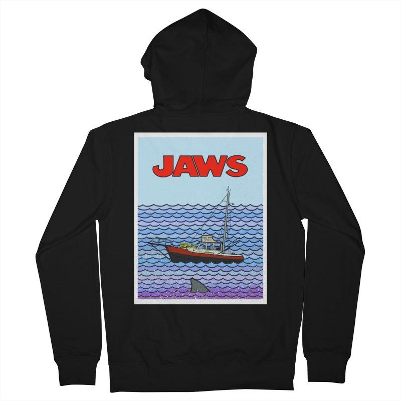 Jaws Women's Zip-Up Hoody by Steven Compton's Artist Shop