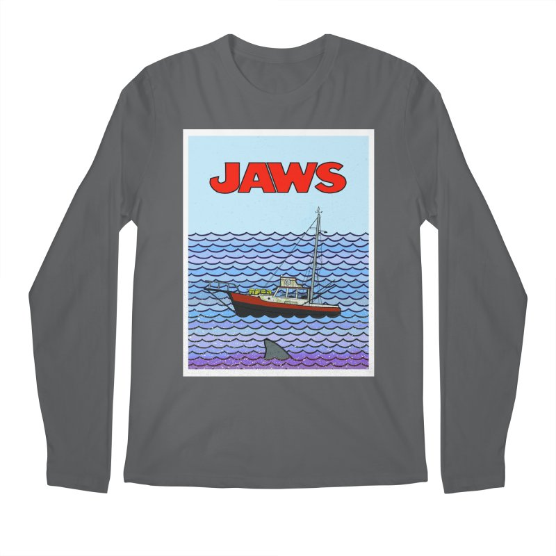 Jaws Men's Regular Longsleeve T-Shirt by Steven Compton's Artist Shop