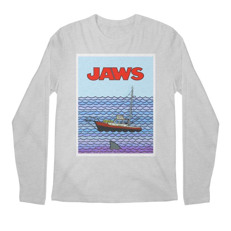 Jaws Men's Regular Longsleeve T-Shirt by Steven Compton's Artist Shop