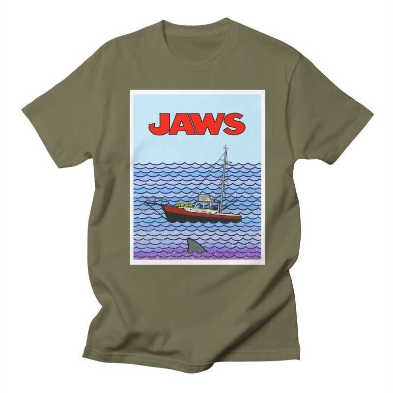 Jaws Men's T-Shirt by Steven Compton's Artist Shop