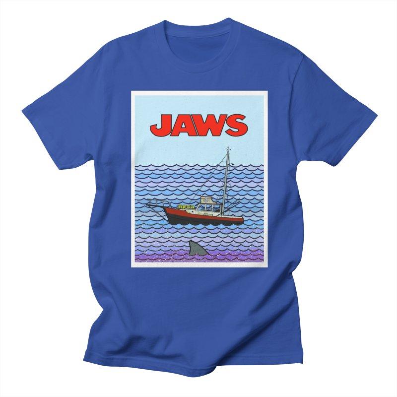 Jaws Men's Regular T-Shirt by Steven Compton's Artist Shop