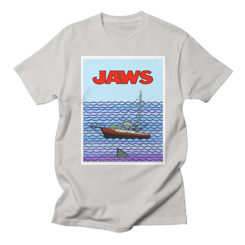 Jaws Men's Regular T-Shirt by Steven Compton's Artist Shop